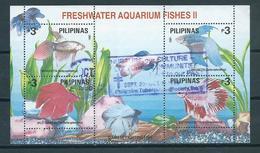 1993 Filipijnen Complete M/Sheet Fish,vissen,poisson Used/gebruikt/oblitere - Philippines