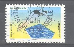 France Autoadhésif Oblitéré N°1186 (la Vue) (cachet Rond) - France