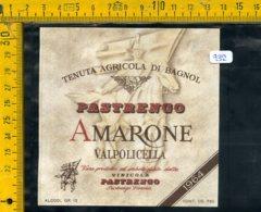 Etichetta Vino Liquore Amarone Valpolicella Pastrengo Verona - Etiquettes