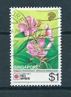 1991 Singapore $1.00 Flower,fleurs,blümen Used/gebruikt/oblitere - Singapore (1959-...)