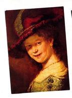 Carte Tableau Rembrandt  Saskia Cachet Saint Louis Sur Diane Carré Chateau - Peintures & Tableaux