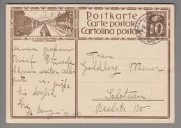 Schweiz GS Bildpostkarte Zu# 119.008 übereinstimmend Chaux-de-Fonds 1930-03-14 - Entiers Postaux