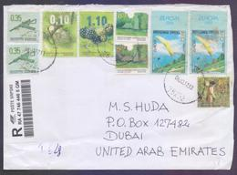 Fruits, Europa, Arms, Postal History Cover From BOSNIA  And HERZEGOVINA, Registered Used 4.2.2017 - Bosnie-Herzegovine