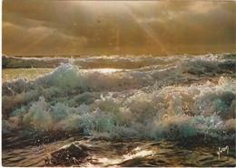 D652 COUCHER DE SOLEIL SUR L'OCEAN - Photographie