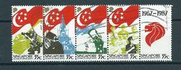 1987 Singapore Complete Set/strip National Service Used/gebruikt/oblitere - Singapore (1959-...)