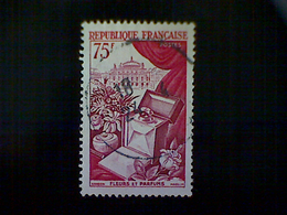 France, Scott #715, Used (o), 1954, Renowned Products Of France, Flowers And Perfumes, 75fr, Deep Carmine And Magenta - Used Stamps