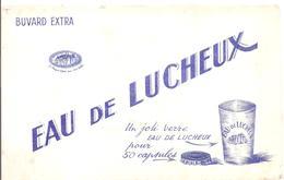Buvard  EAU DE LUCHEUX Un Joli Verre EAU DE LUCHEUX Pour 50 Capsules - Limonades