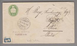 Schweiz Ganzsache 1898-09-12 Ambulant 25 Rp. Tübli Nach Niederländisch-Indien - Entiers Postaux
