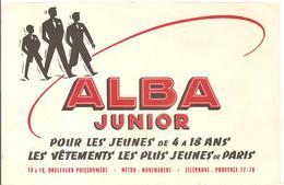 Buvard  ALBA Junior Pour Les Jeunes De 4 à 18 Ans Les Vêtements Les Plus Jeunes De Paris - Textile & Vestimentaire