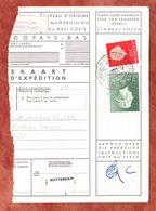 Paketkartenabriss, MiF Koenigin Juliana, Entwertet Groningen-Floresstraat 1963 (68781) - 1949-1980 (Juliana)