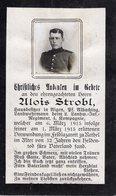 Ardennes. RETHEL. 1915. Sterbebild Avis Décès Soldat Allemand - 1914-18