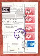 Paketkartenabriss, MiF Koenigin Juliana, Entwertet Oisterwijk 1963 (68783) - 1949-1980 (Juliana)