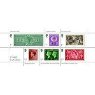 GREAT BRITAIN 2019 Classic Stamps Zegel Op Zegel Stamp On Stamp   M/s       Postfris/mnh/neuf - Ongebruikt