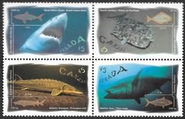Canada  1997 -   YT 1511 à 1514  - Poissons Marins -   NEUFS** - 1952-.... Règne D'Elizabeth II