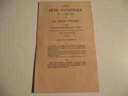 Programme De La Fete Patronale De La Ste Enfance, 1887, Limoges - Programs