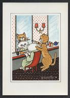 Jacqueline BOURDILLON - Au Royaume Des Chats - N° 8 - Chez Le Coiffeur (Chats Humanisés). Tirage 3.000 Exemplaires. - Illustrateurs & Photographes