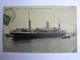 """CPA BELGIQUE - ANVERS - Départ Pour Le Congo. Le Steamer """"Elisabethville"""" 7000 Tonnes - Belgique"""