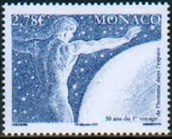 Monaco 2011 - Youri Gagarine, 1er Vol Dans L'Espace / Yuri Gagarin, 1st Flight In Space - MNH - Space