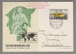 Schweiz Tag Der Briefmarke 1939-12-03 St.Gallen Deutsch - Suisse