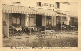 WENDUYNE (Wenduine) - Taverne Artistique BAGATELLE - Fraai Zicht Op Het Terras / Belle Vue Sur La Terrasse - 1926 - Wenduine