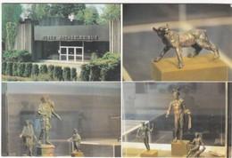 D653 MUSEE ARCHEOLOGIQUE DE BAVAY - 4 VUES - CHIEN - ENSEMBLE DE DIEUX LARES - ENSEMBLE DE DIEUX MERCURE - Musées