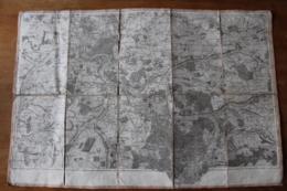 Carte Entoilée XVIII° Melun , Fontainebleau  Tres Detaillée - Cartes Topographiques
