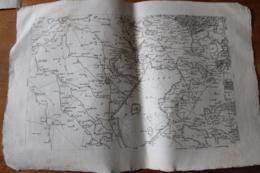 Carte XVIII°Bavay Tres Detaillée   Nord De La France - Cartes Topographiques