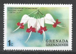 Grenada Grenadines 1975. Scott #51 (MNH) Bleeding Heart, Flower * - Grenade (1974-...)