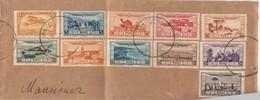 PART COVER. FRAGMENT DE LETTRE. PA N° 12/21 AU PROFIT DES VICTIMES DE LA SECHERESSE ET DES INONDATIONS. LA SERIE  / 3 - Maroc (1891-1956)