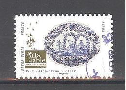 France Autoadhésif Oblitéré N°1529 (Les Arts De La Table) (cachet Rond) - France