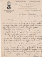 CANADA Lettre Facture Illustrée 20/7/1894 Maison De La Bonne Presse La Croix De Montréal Le Journal Populaire MONTREAL - Canada