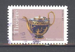 France Autoadhésif Oblitéré (Les Théières : France Sèvres) (cachet Rond) - France