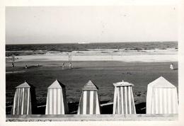 Photo Originale Maroc -  Mazagan, Reine Des Plages Du Maroc En Octobre 1954 & Ses Cabines Vues De L'Hôtel Maraba - Places