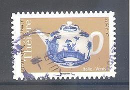 France Autoadhésif Oblitéré (Les Théières : Italie Venise) (cachet Rond) - France