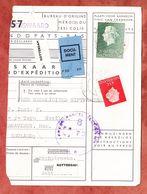 Paketkartenabriss, MiF Koenigin Juliana, Entwertet Valkenswaard 1963 (68786) - 1949-1980 (Juliana)