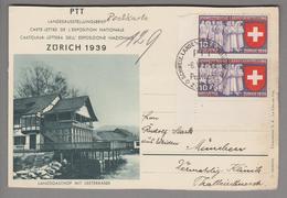 Motiv Landi 1939-05-08 Landi Pavillon Bild Landsgasthof Nach München - Stamps