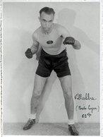 Carte Photo Ancienne < LE BOXEUR < VILLALBA (Poids LEGER) 62 Kgs - Boxing