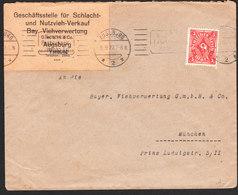 ALLEMAGNE Lettre De AUGSBURG Via Munchen - Lettres & Documents