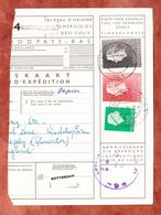 Paketkartenabriss, MiF Koenigin Juliana, Entwertet Achterveld 1963 (68787) - 1949-1980 (Juliana)