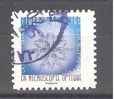 France Autoadhésif Oblitéré (Flocons De Neige N°4) (cachet Rond) - France