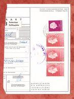 Paketkartenabriss, MiF Koenigin Juliana, Entwertet Rotterdam Delftseplein 1963 (68788) - 1949-1980 (Juliana)