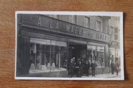 Carte Photo  A La Malle Des Indes   PAU Boutique 1909 - Pau