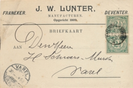 Nederland - 1890 - Kleinrond HARLINGEN N:SCHANS Op Zakenbriefkaart Naar Varel / Deutschland - Poststempels/ Marcofilie