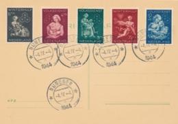 Nederland - 1944 - Winterhulpserie Op Kaart - Nijmegen 4-4-1944 - Geen Adres - Brieven En Documenten
