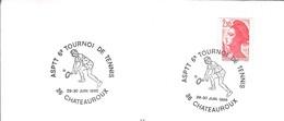 FRANCE TENNIS TENIS COMPETITION TOURNOI TURNIER 1985 TENNISMAN RAQUETTE SCHLAGER BALLE CHATEAUROUX ASPTT A.S.P.T.T. - Tennis