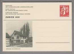 Schweiz Ganzsache Landi 1939 Zu# 146-015 Ungebraucht Grosses Bauernhaus - Entiers Postaux