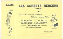 Buvard  LES CORSETS BERGERES Paris Offert Par G. VAUNGES 66, Rue De La République à SENS - Textile & Vestimentaire