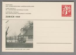 Schweiz Ganzsache Landi 1939 Zu# 146-022 Ungebraucht Winzerstube - Entiers Postaux