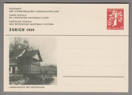 """Schweiz Ganzsache Landi 1939 Zu# 146-021 Ungebraucht """"Landgasthof"""" - Entiers Postaux"""