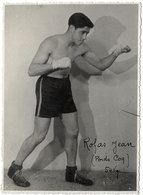 Carte Photo Ancienne < LE BOXEUR < ROJAS JEAN (Poids COQ) 54 Kgs - Boxing